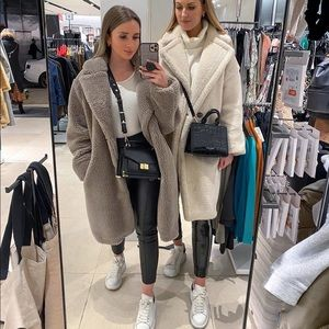 Zara fleece fur coat